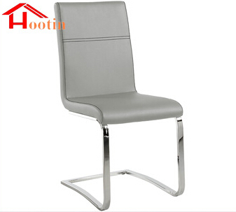 New Design Sliver PU Leather Metal Legs Outdoor Dining Chair