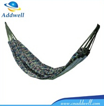 Outdoor double person canvas camouflage hammock