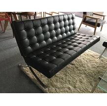 modern leather barcelona 3 seaters sofa