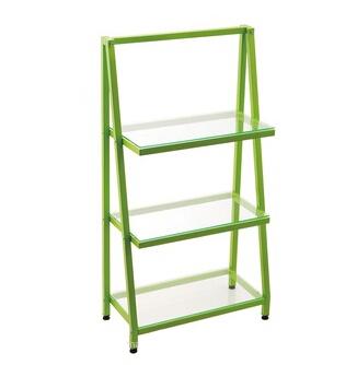 corner shelf glass shelf 3 tier shelf with metal frame 40033P8