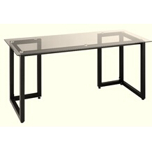 glass computer desk powder coated metal frame computer desk 40001W10