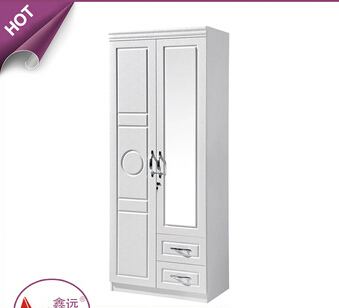 2016 Modern small simple mdf wooden double door wardrobe almirah closets children bedroom wardrobe design