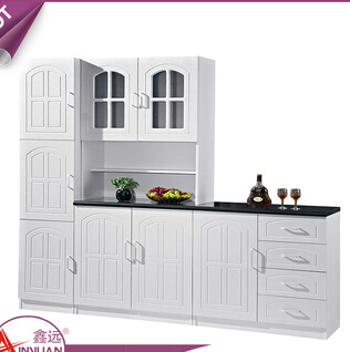 Chinese alibaba movable pvc surface kitchen counter wooden white modular italian kitchen cabinet