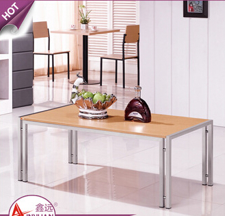 Italian living room furniture low price stainless steel legs15mm mdf top modern coffee wood table