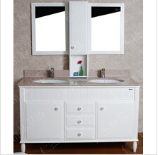 factory price pvc bathroom vanity double sink