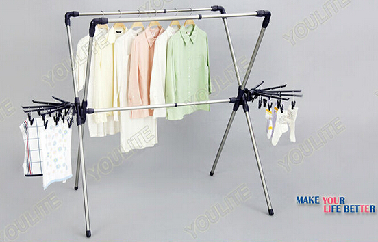 Extendable X-type portable clothes dryer