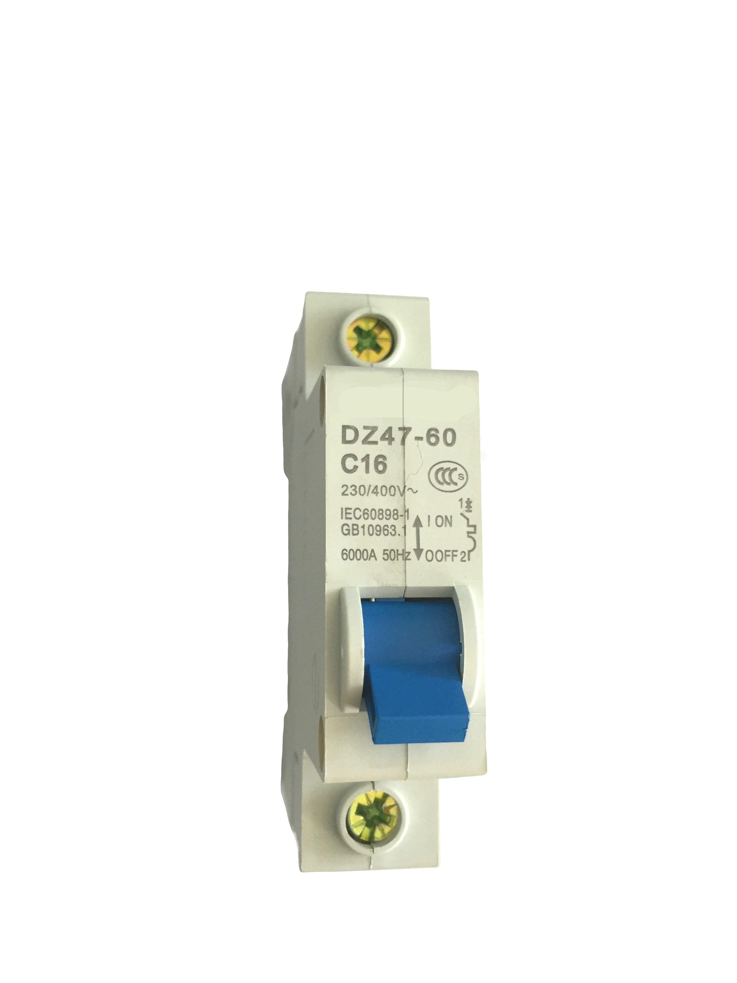 China Dz47 63 Mcb Circuit Breaker 1p 2p 3p 4pelectric House High Quality 4p
