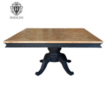 Classical French Oak Wooden Square Table HL520-150B