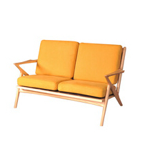 2016 comfortable living room furniture single sofa chair solid wood furniture