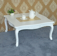 Home Furniture Coffee Table Specific Use and Solid Wood Style wood carved console table