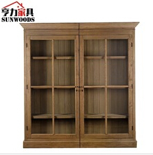 Antique Reproduction reclaim wood wine cabinet
