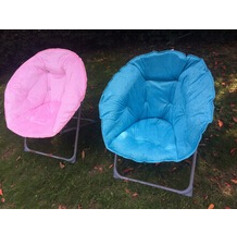 highline fleece velour moon chair