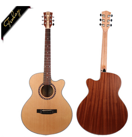 Finlay FM-150C 40 inch china wholesale acoustic guitar with pick and kit