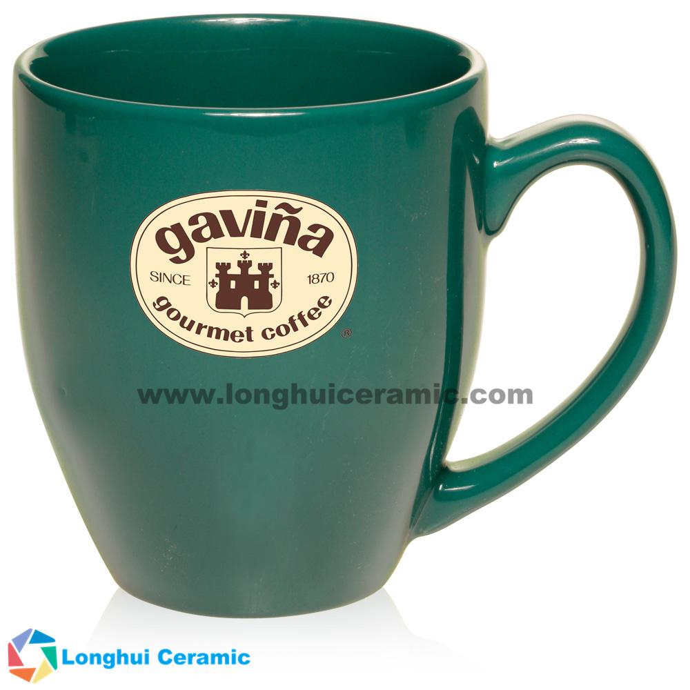 Bistro glossy vibrant color customizable ceramic coffee mug