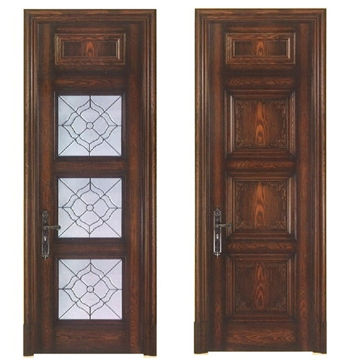 Solid wooden door design