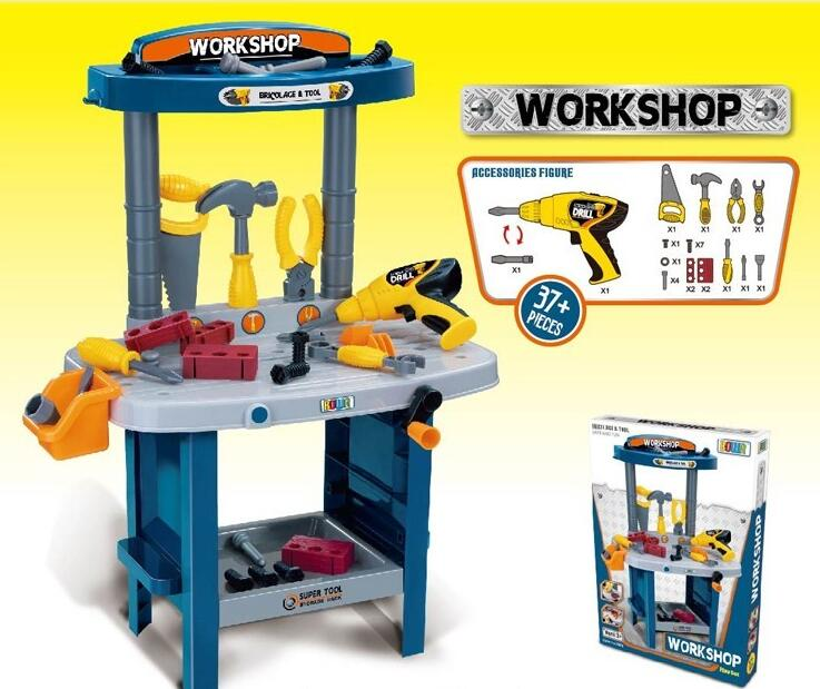 Factory outlet high quality workshop tool play set children plastic toys