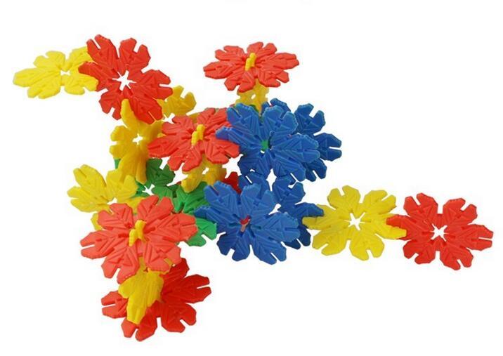 208PCS Kids Educational Toy Snow Flakes Building Block Snowflake Building Blocks Plastic Safe Intelligence Toys