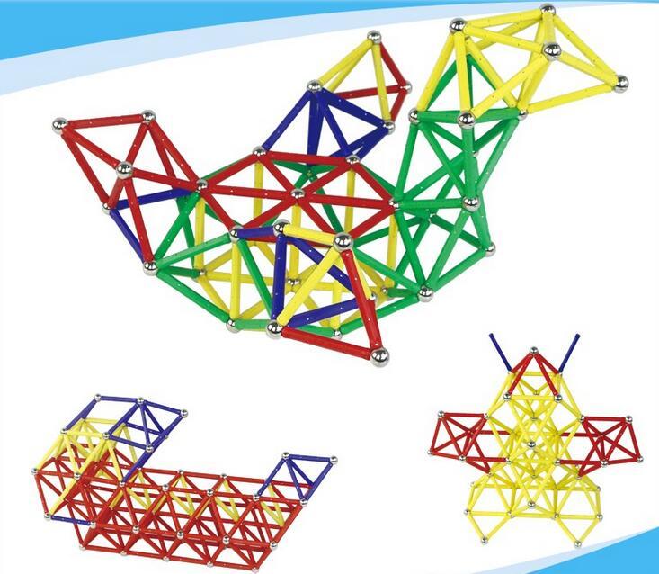 188pcs Clear Magnetic 3D Building Blocks