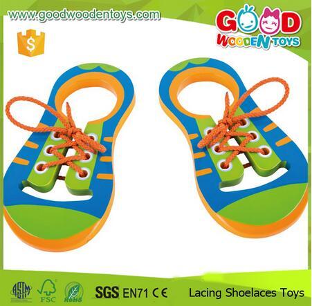 Hand Coordination Development Tie Shoes Board Lacing Shoelaces Toys