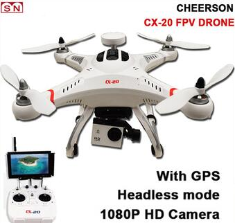 CHEERSON headless mode cx-20 auto-pathfinder drone with gps camera