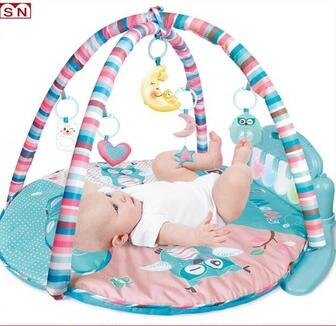2017 New round round baby mat play toy with piano for sale