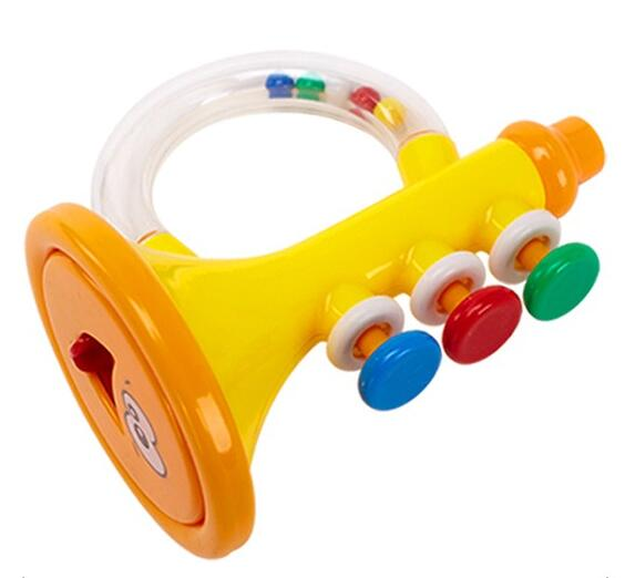 Funny Colorful Educational Baby Music Trumpet Toy Plastic Rattle