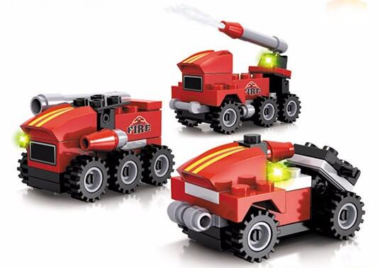 4 Styles Assorted Fire Rescue Force Mini ABS Plastic Building Block Toy For Kids