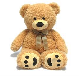 Delicate fine plush teddy bear soft toy dancing bear