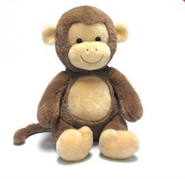 Graphics customization monkey plush toy for girl