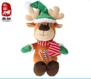 cute and colorful christmas deer plush gifts soft stuffed toys