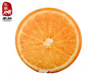 Hot sale unique gift sublimation printing colorful and emulational fruit cushion from china