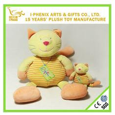 2017 Kids 25cm cute lovely fat cat with stripe plush stuffed soft toys manufacturer