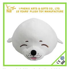 New material New design lovely high good quality white seal stuffed plush toys pillow china manufacturer