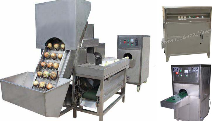 Automatic Onion Peeling & Root Cutting Machine