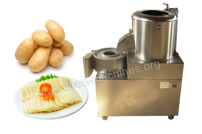 Potato Peeling /Slicing/ Stripping Machine