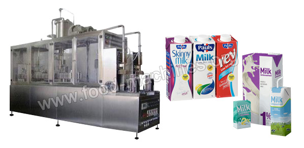 Milk Brick Shape Filling and Packing Machine