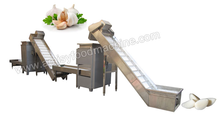 Garlic Separating and Peeling Production Line