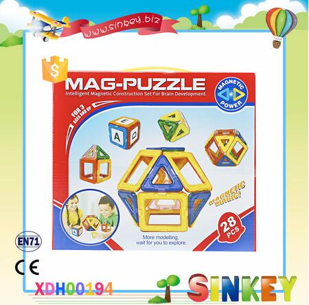 Hot Selling 28pcs educational plastic magnetic building blocks toys education toy for preschool children kids