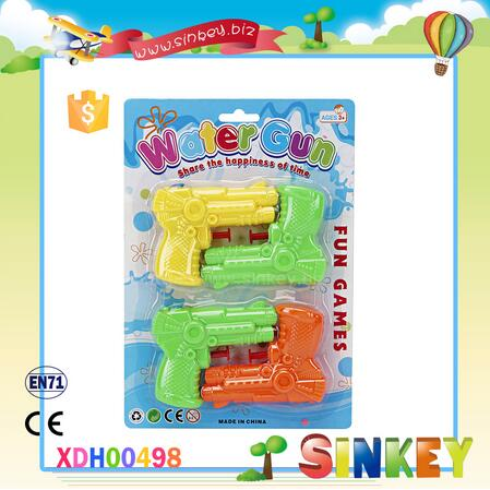 Plastic inflating water gun toy 4 in 1 for kids child and boys