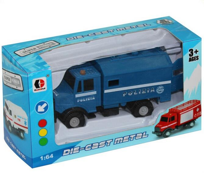 1:64 sliding metal fire protection engineering car police set