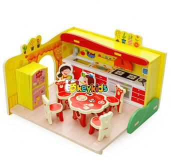 wholesale kids mini wooden diy kitchen toy new design children wooden diy kitchen toy fashion wood diy kitchen toy W03B058