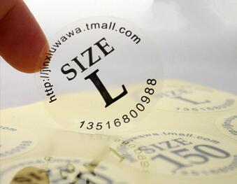 Custom Round Transparent PVC Stickers label