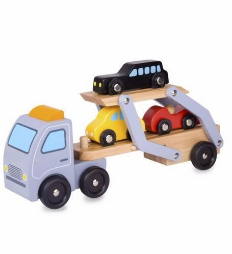 New Product Children Playing Set Wooden Truck Car Toy for Wholesale