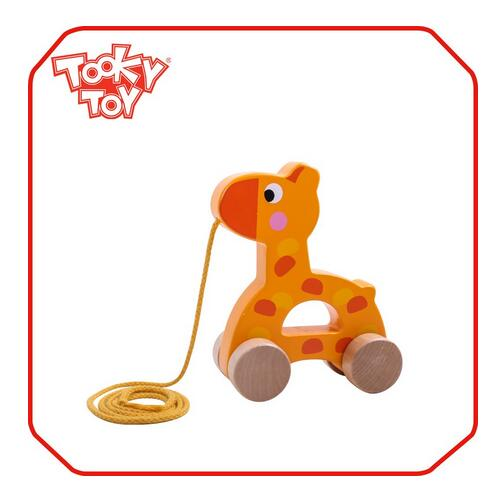 Zoo Animals Pull String Wooden Toy Pull Along Giraffe