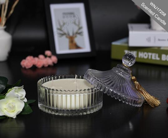 Manufacturer beautiful different scented soy wax candle