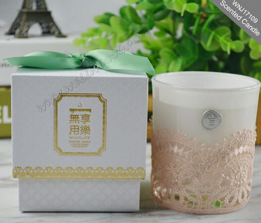 Custom multi-color natural scented soy candles