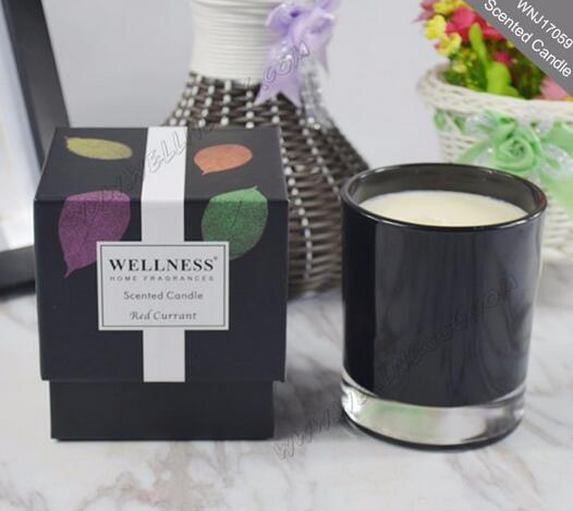 Scented soy glass candle with great gift box