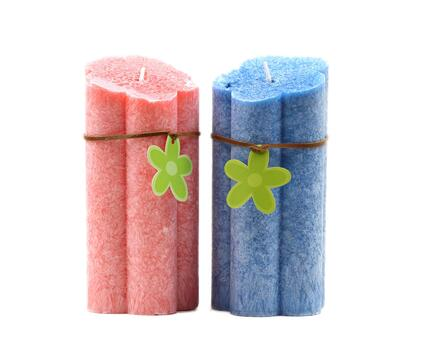Factory paraffin wax oblique top ice pillar candle