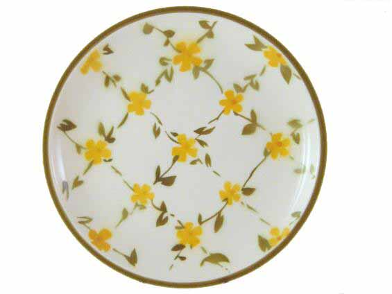 Elegant Little Yellow Flowers Ceramic Plate