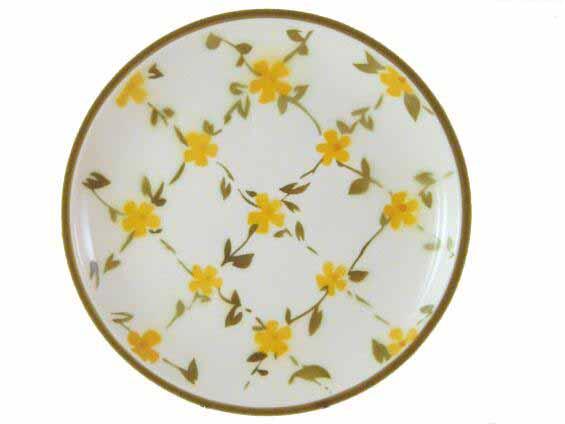 Elegant Little Yellow Flowers Ceramic Plate